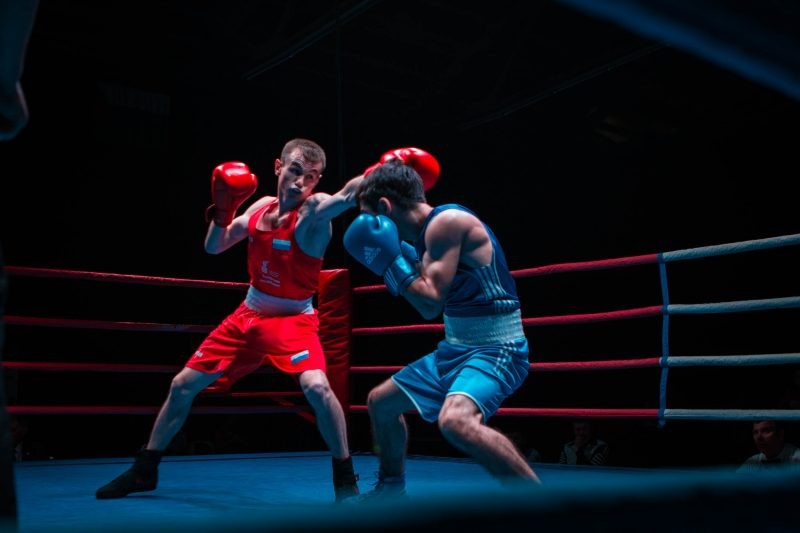 Матчевая встреча по боксу между студенческой сборной России и сборной по боксу Республики Дагестан 11 августа 2018 года